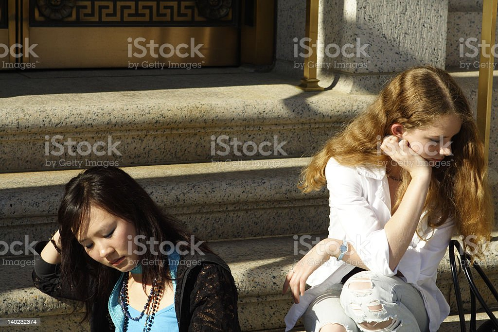Angry Friends royalty-free stock photo