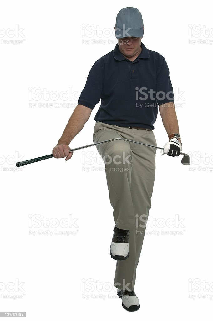 Angry golfer stock photo