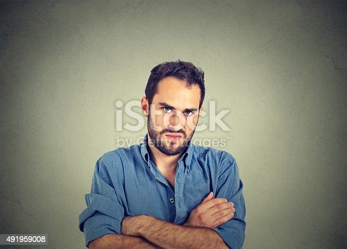 istock angry grumpy man, about to have nervous breakdown 491959008