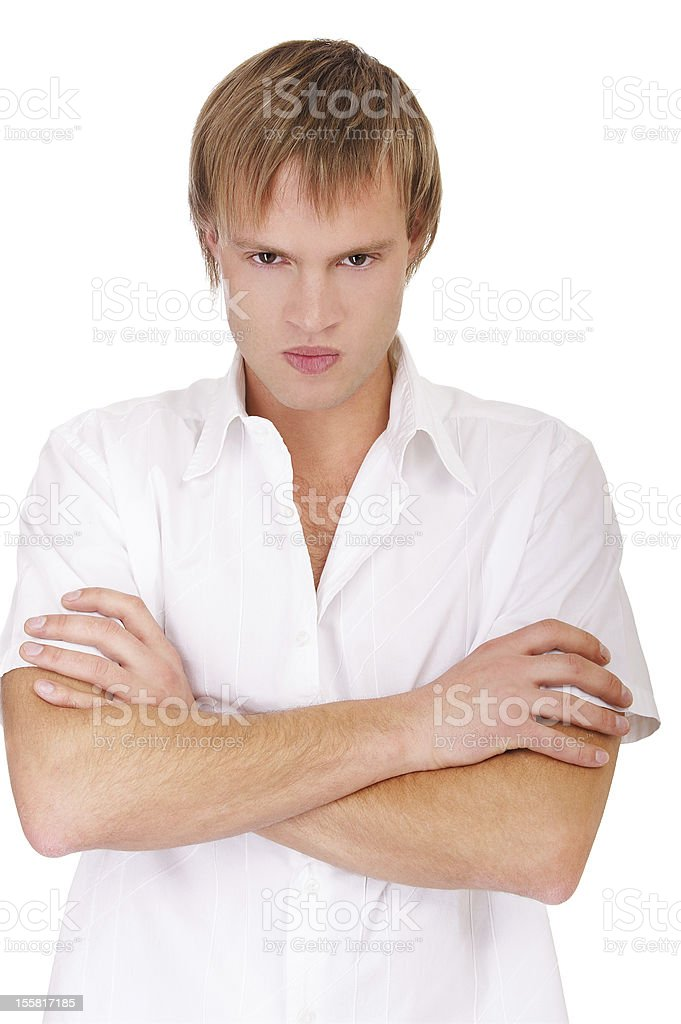 angry guy royalty-free stock photo