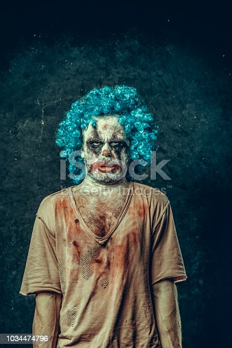 Angry Halloween Carnival Clown