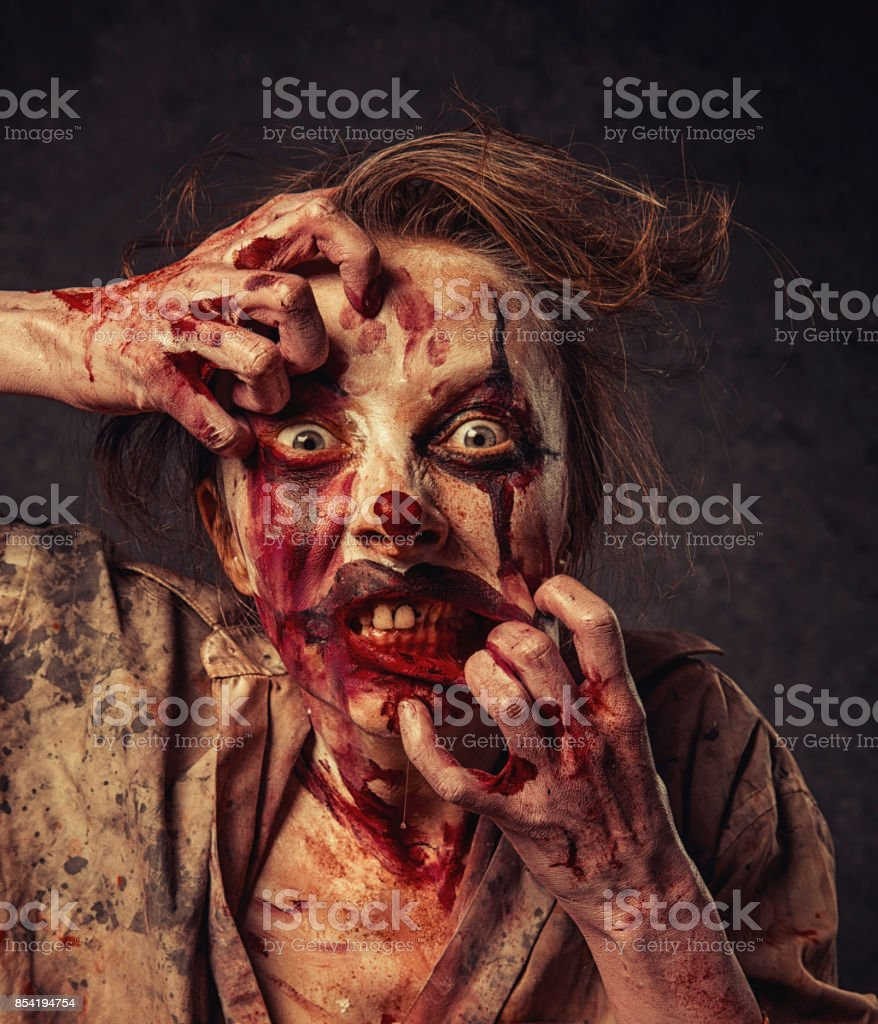 Angry Halloween Clown stock photo