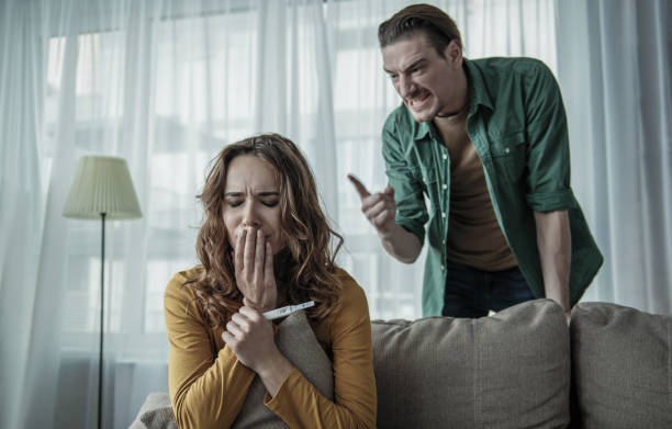 Best Pregnant Woman Yelling At Her Husband Stock Photos