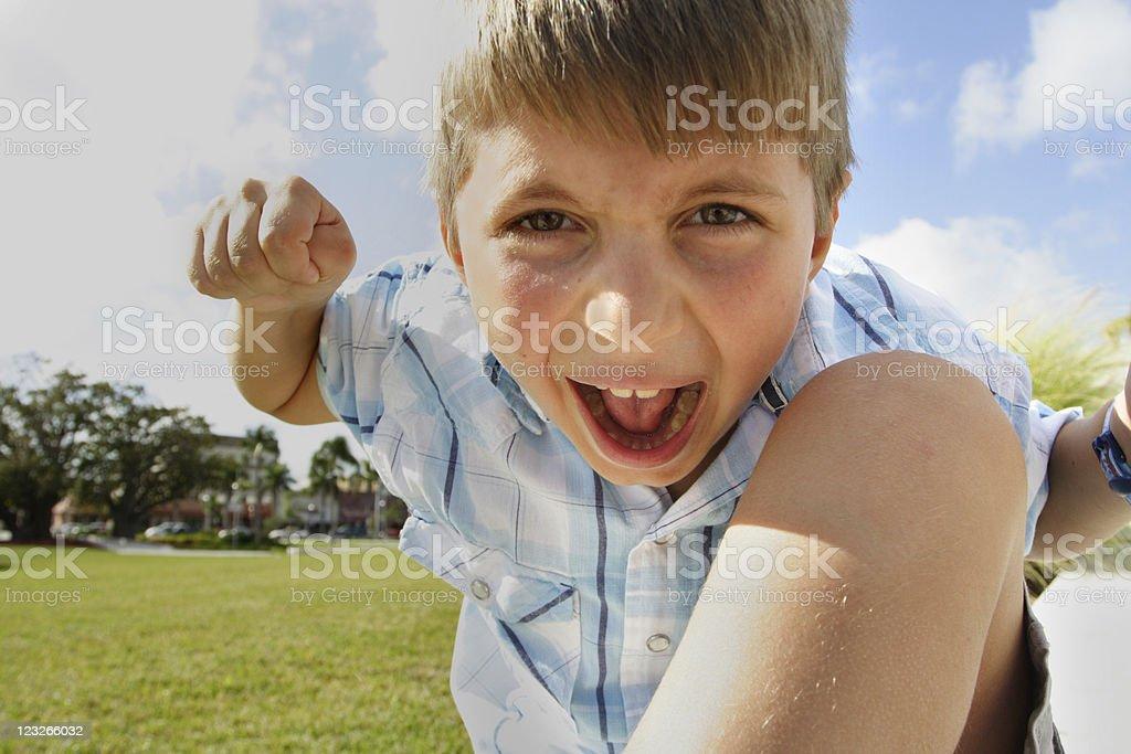 Angry Kid royalty-free stock photo