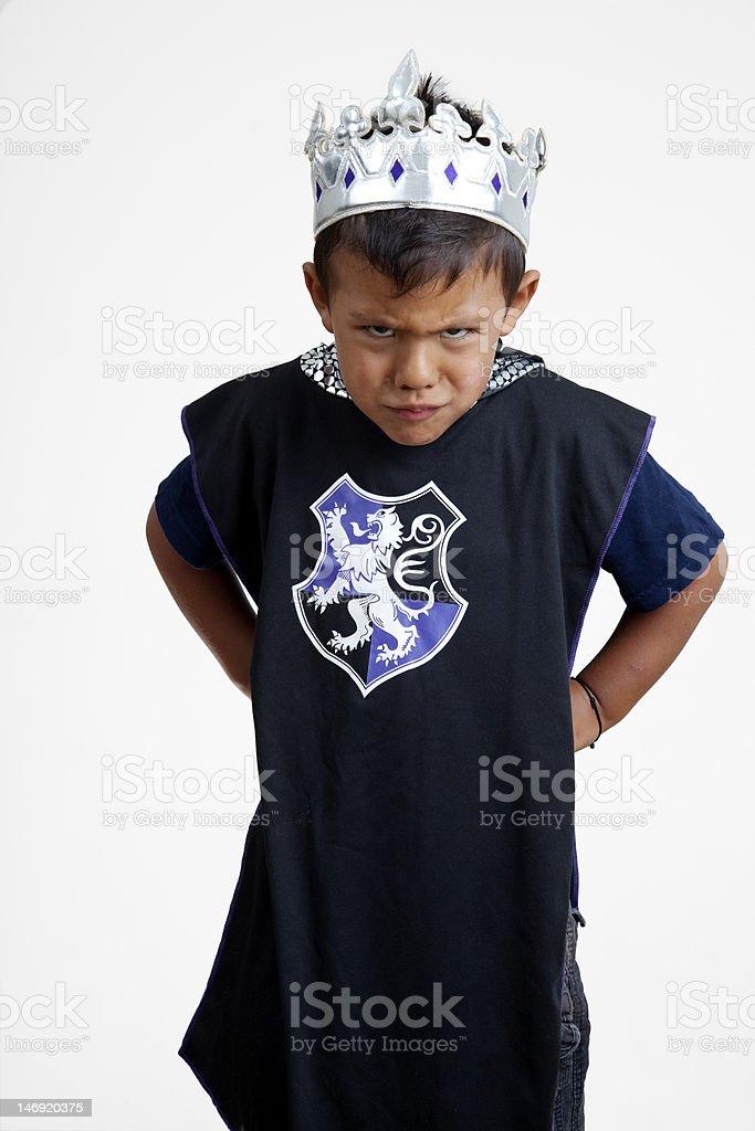 Angry king stock photo
