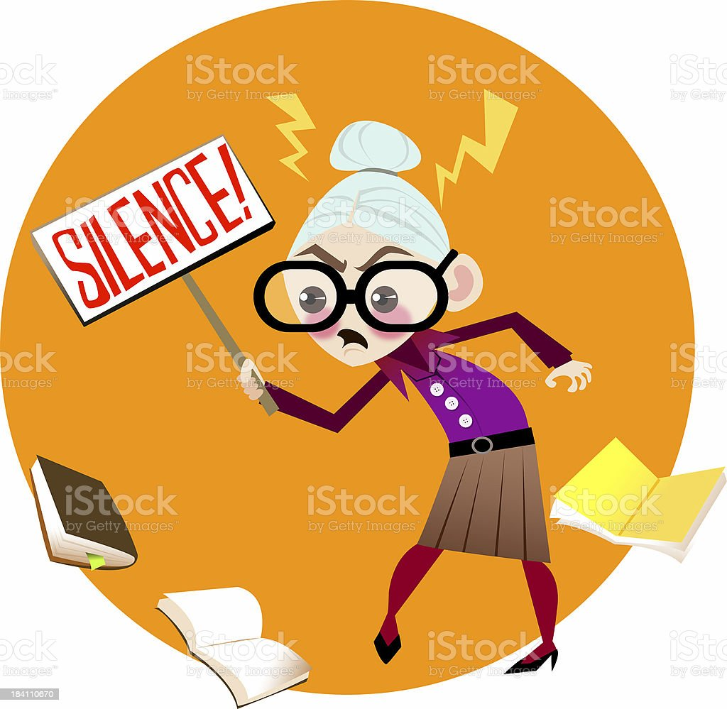 Angry Librarian royalty-free stock photo