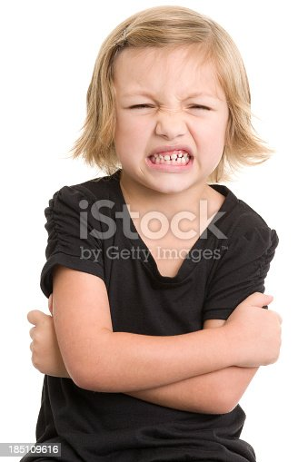 Portrait of a little girl on a white background. http://s3.amazonaws.com/drbimages/m/sm.jpg