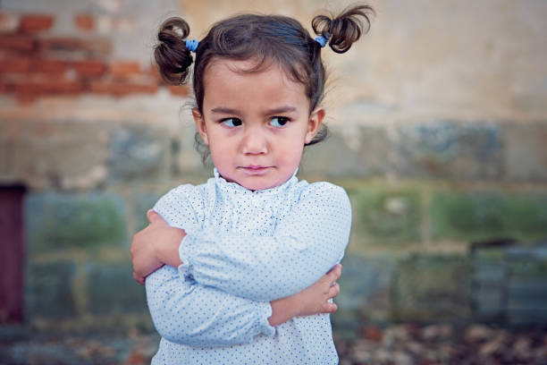 Angry little girl Angry little girl agitation stock pictures, royalty-free photos & images