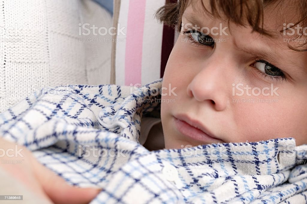 Angry looking boy royalty-free stock photo