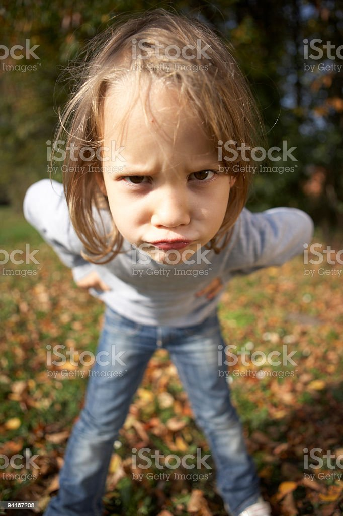 angry looking girl royalty-free stock photo