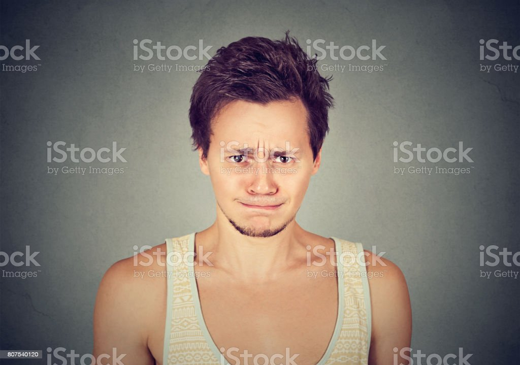 angry man about to have nervous breakdown stock photo