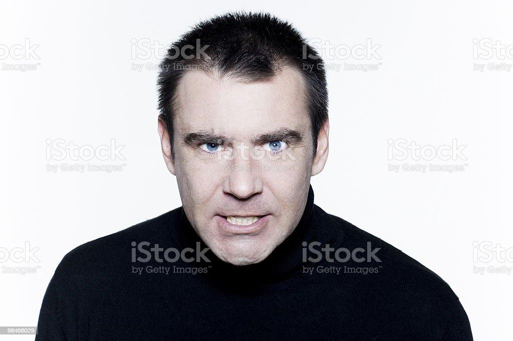Espressivo Ritratto di uomo arrabbiato foto stock royalty-free