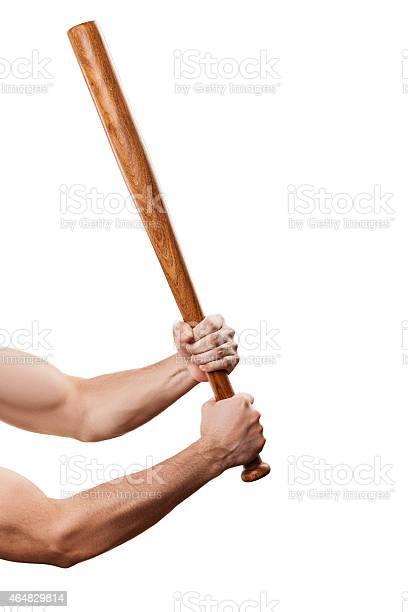 Hombre Enojado Intramuscular Mano Agarrando Béisbol Deportes Bat Foto De Stock Y Más Banco De Imágenes De 2015 Istock