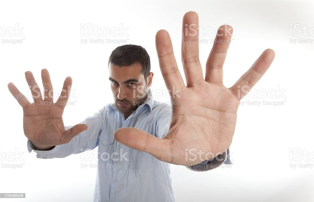 Angry man. stock photo