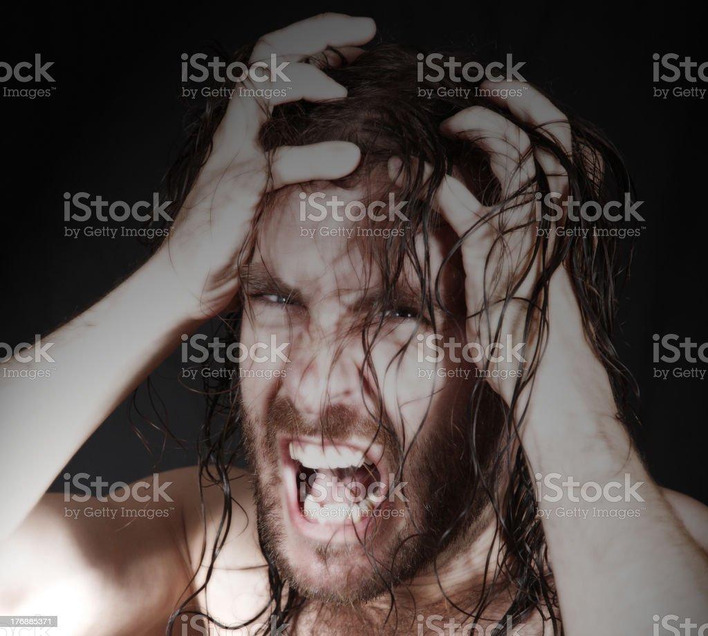 Angry Man stock photo