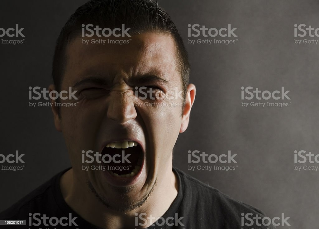 Angry Man Portrait royalty-free stock photo