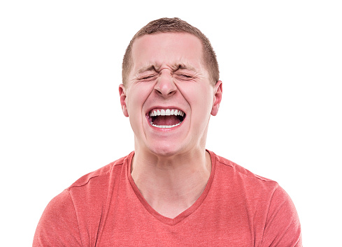 Angry Man Screaming Stock Photo - Download Image Now - iStock