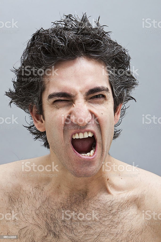 Angry man screaming royalty-free stock photo