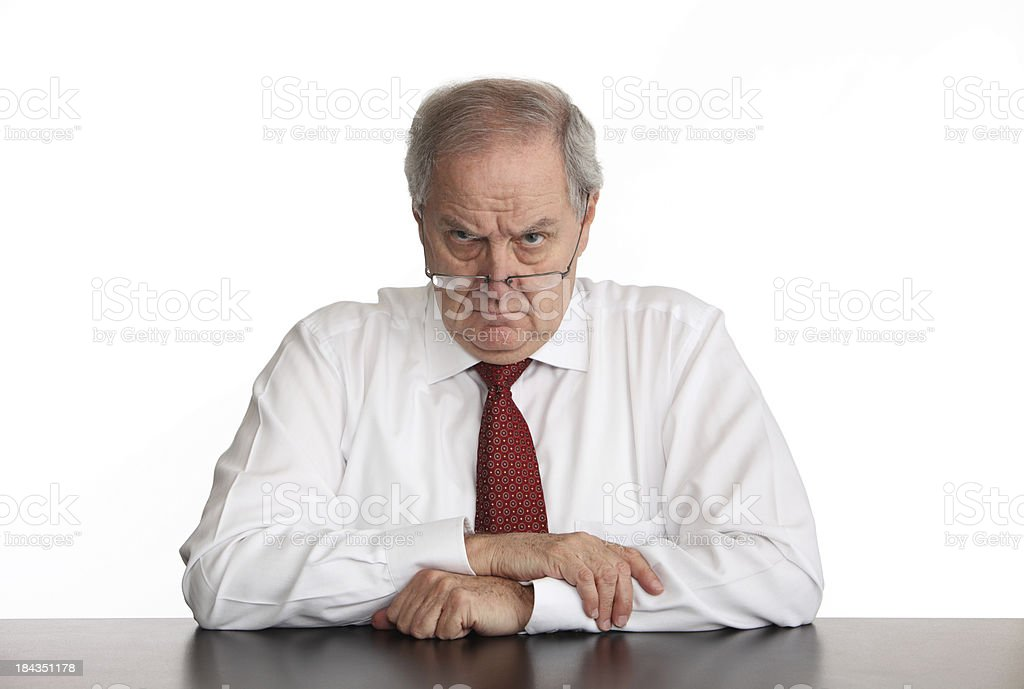 Angry Manager stock photo