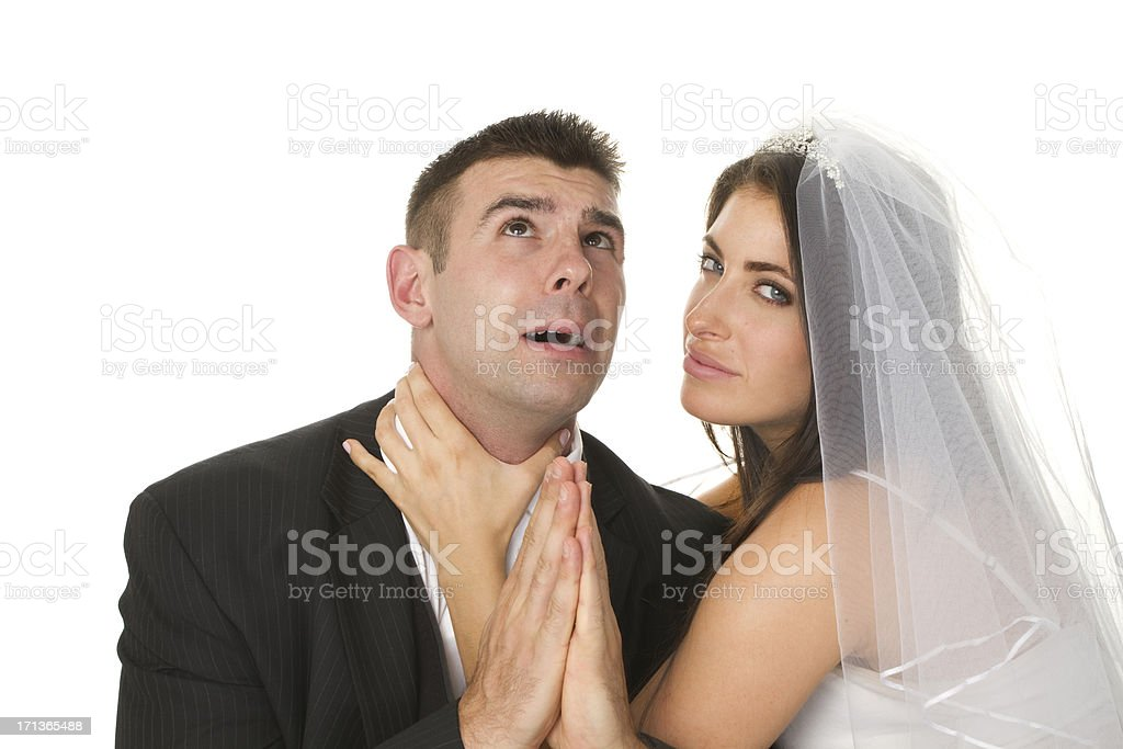 angry married couple royalty-free stock photo