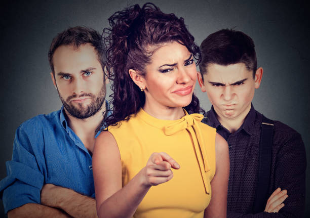 angry mean people - judgement stock pictures, royalty-free photos & images