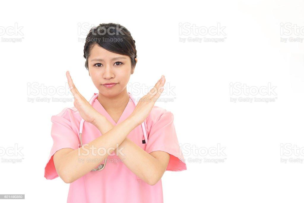 Angry medical doctor photo libre de droits