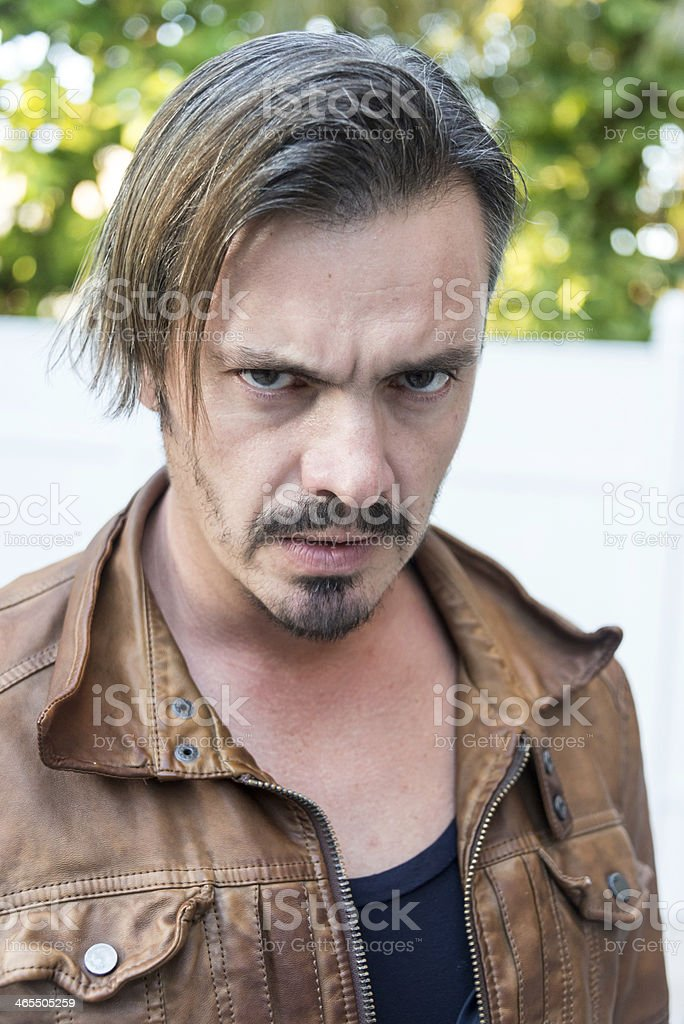 angry mid adult man royalty-free stock photo