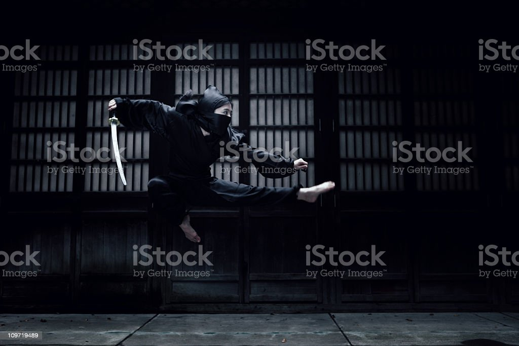 Angry Ninja stock photo