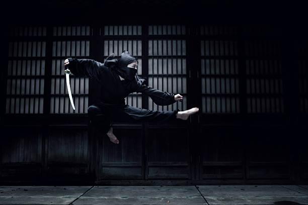 angry ninja - ninja fotografías e imágenes de stock
