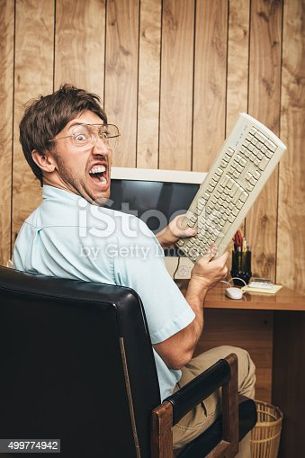 618210072 istock photo Angry Office Worker of the Past 499774942