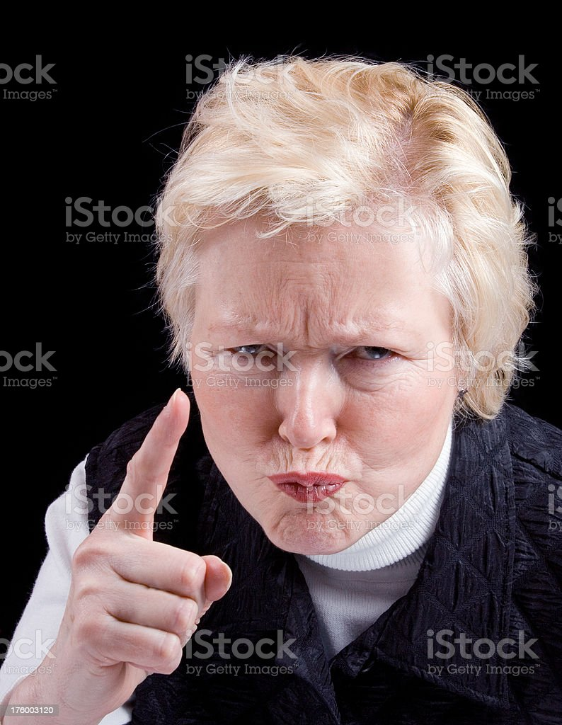 Angry older woman royalty-free stock photo