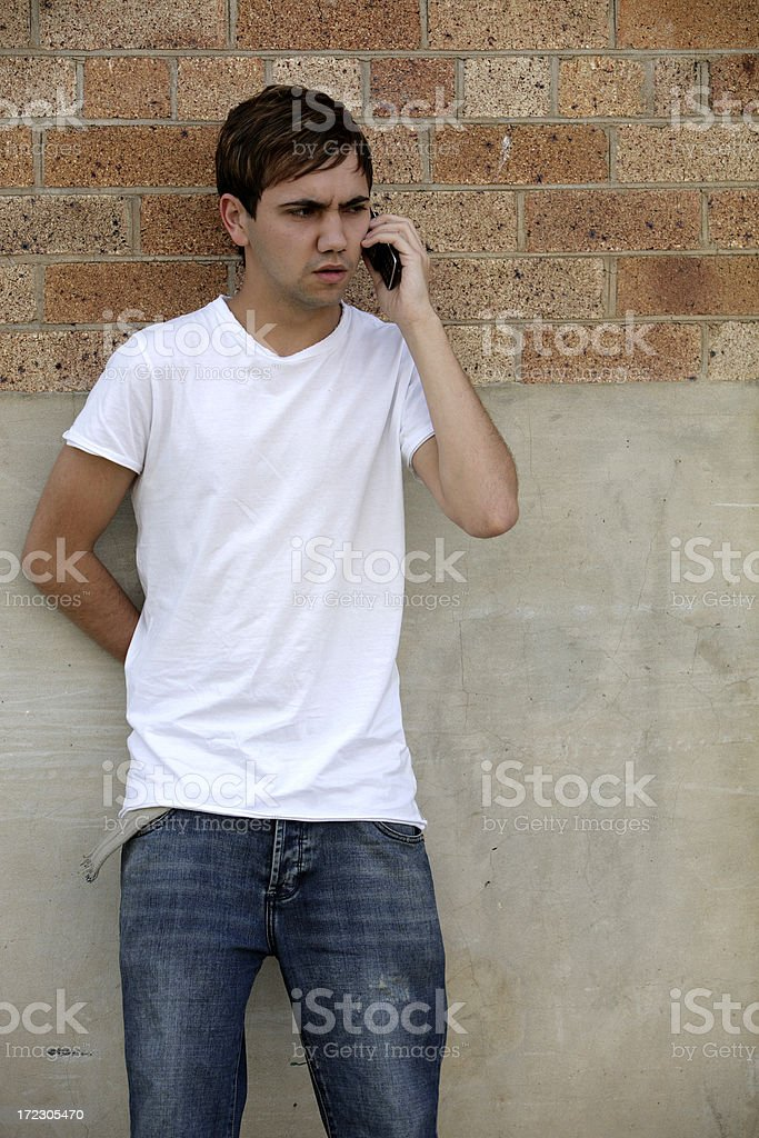 Angry Phone Call royalty-free stock photo