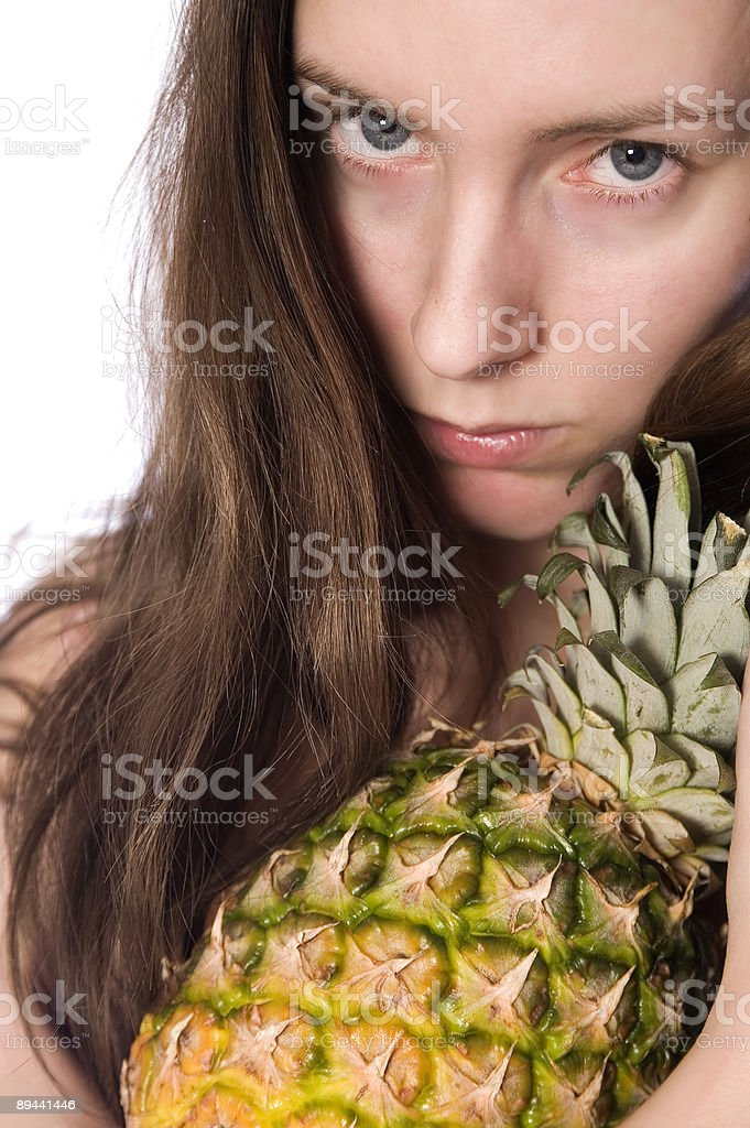 Angry Pineapple girl royalty-free stock photo