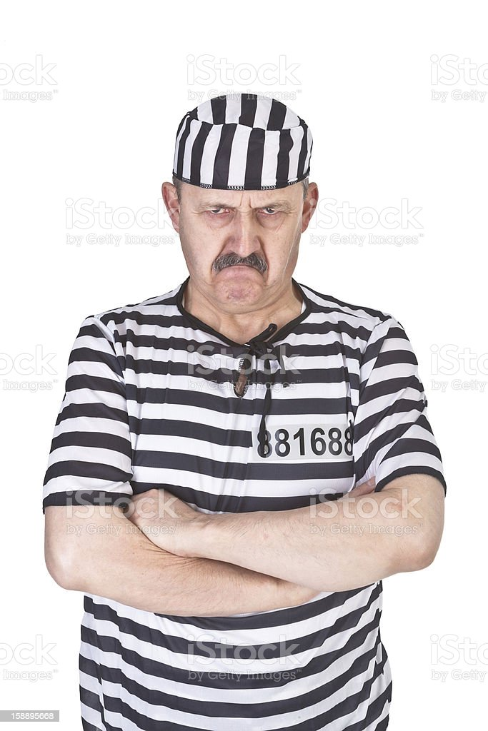 angry prisoner royalty-free stock photo