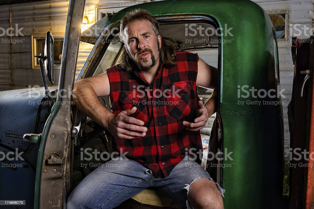 Angry Redneck Portrait royalty-free stock photo
