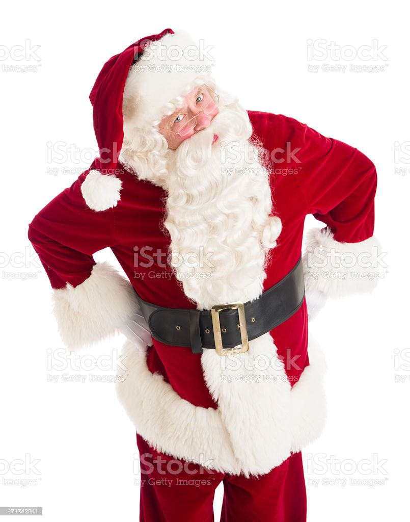 Angry Santa Claus Standing With Hands On Hips royalty-free stock photo