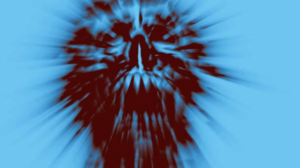 wütend schreiende ghul-kopf. illustration im genre horror. - brüllender tod stock-fotos und bilder