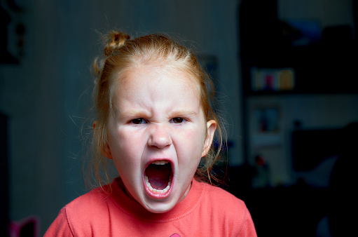 istock Angry screaming girl. 1176905935