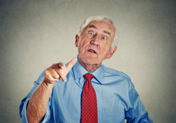 angry senior man - inpatient stock pictures, royalty-free photos & images