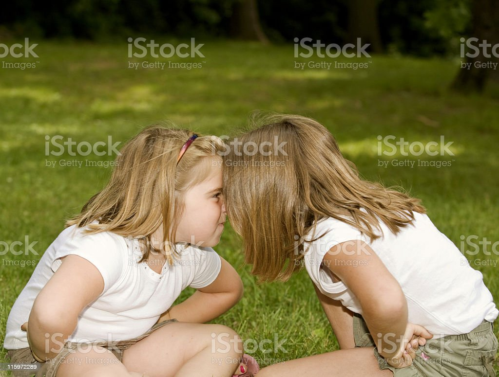 Angry Siblings stock photo