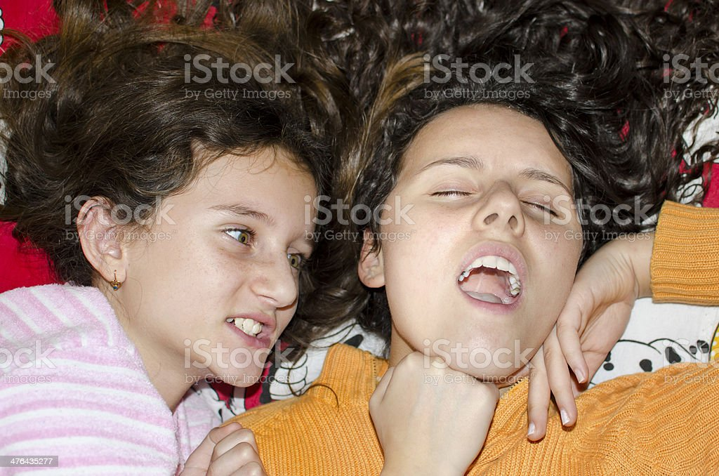 angry sister children fight royalty-free stock photo
