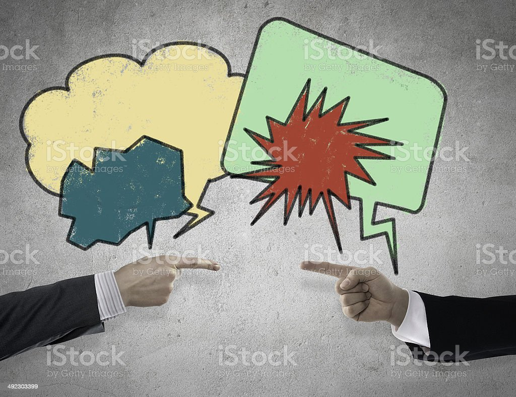 Angry speech bubble stock photo