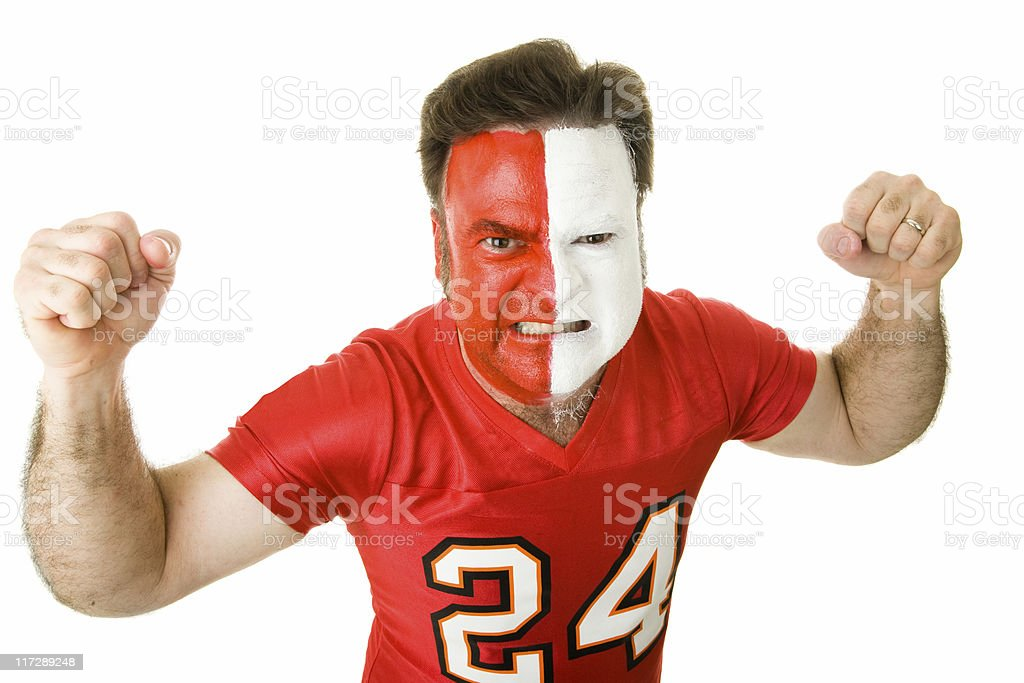 Angry Sports Fanatic stock photo