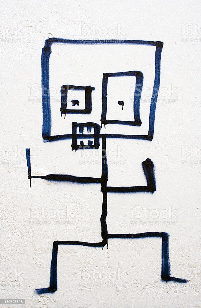 Angry Stick-Figure royalty-free stock photo