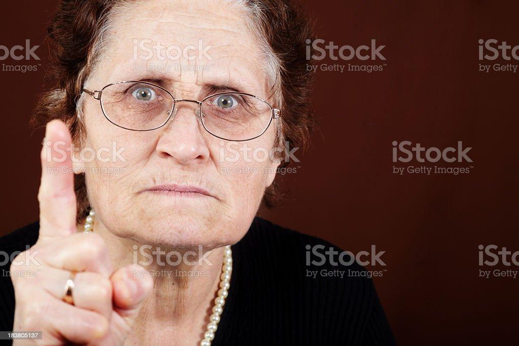 Angry teacher stock photo