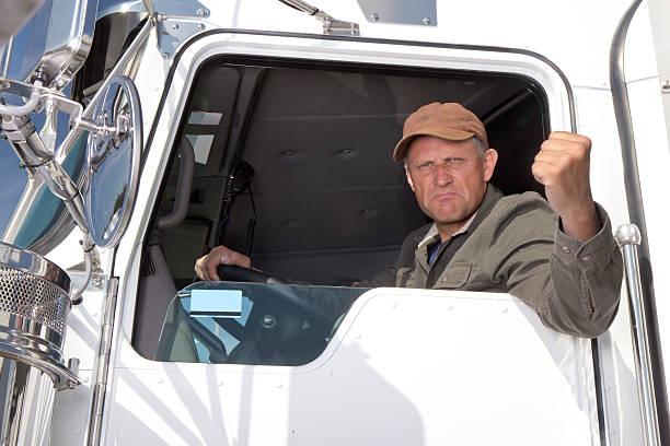Wütende Lkw Driver – Foto