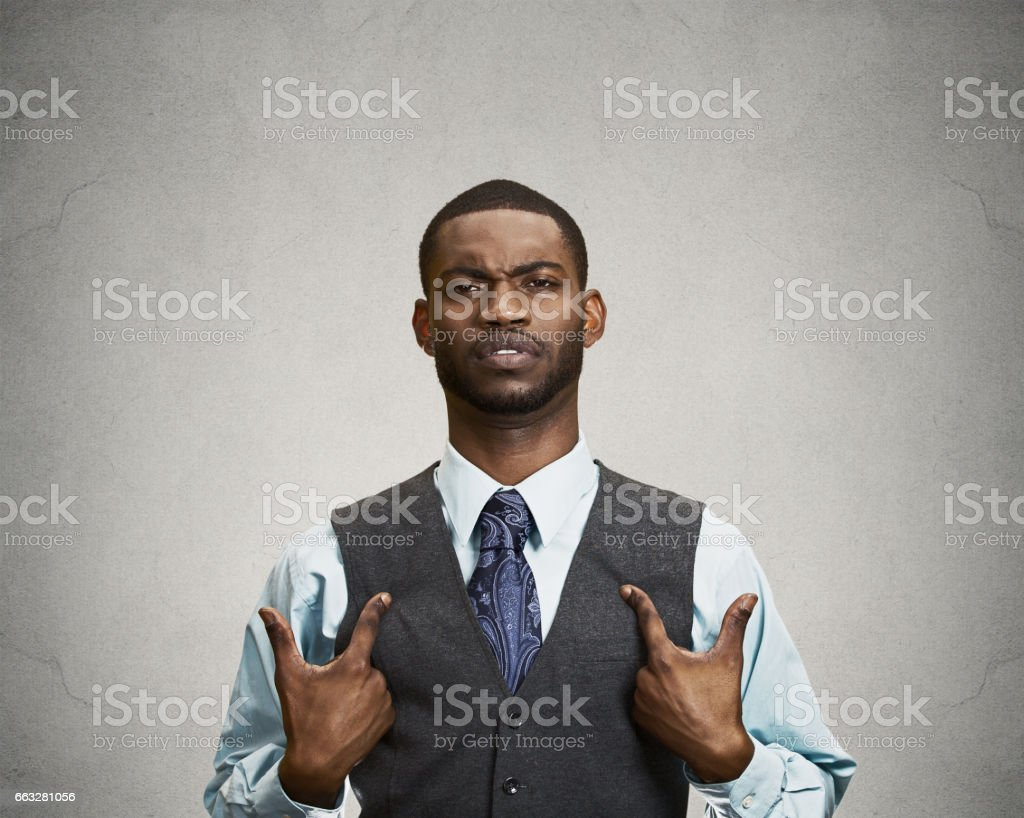angry, unhappy annoyed, rude young executive man, getting mad stock photo
