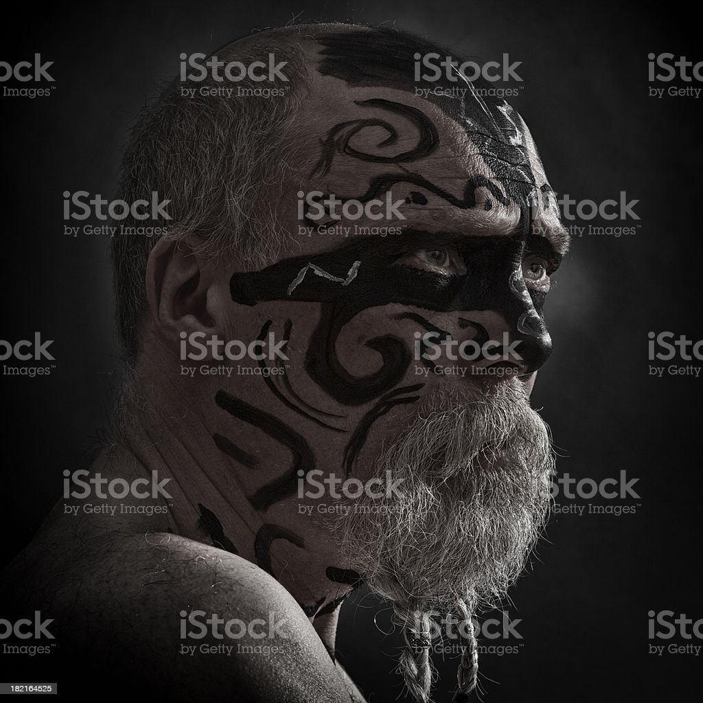 En colère portrait de guerrier - Photo