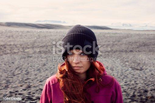 Angry girl looking at camera