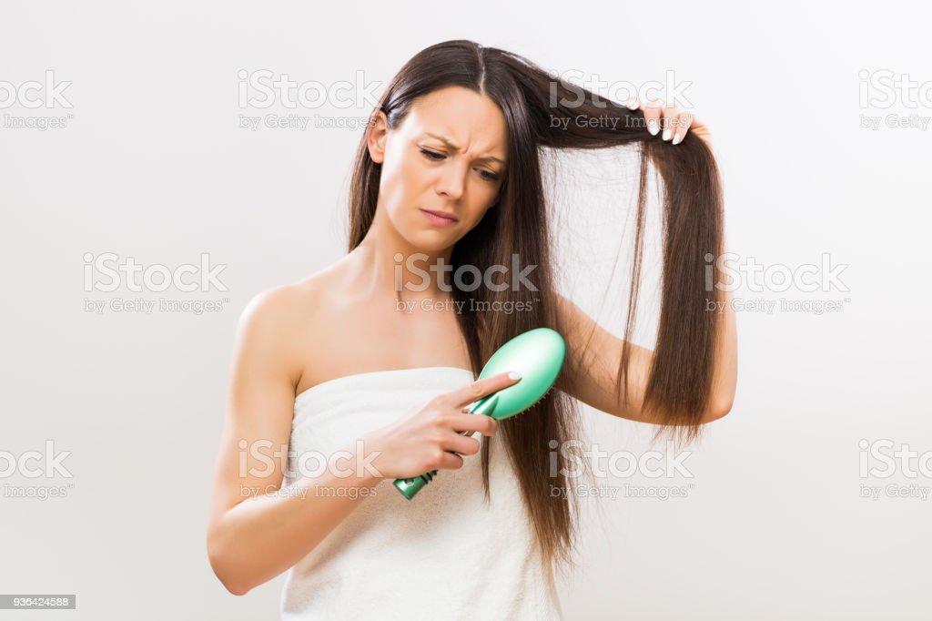 Böse Frau Bürsten Haare – Foto